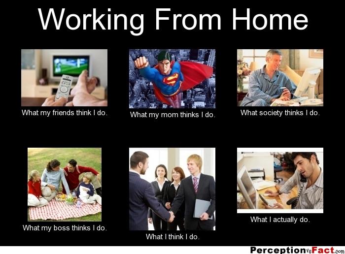 کار کردن در خانه از دید افراد مختلف