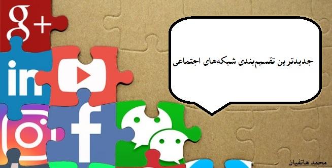 جدیدترین تقسیمبندی شبکههای اجتماعی