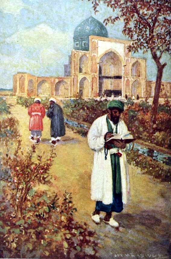 «در آرامگاه خیّام» اثر Jay Hambidge در سفرنامه از «قسطنطنیه تا نیشابور»