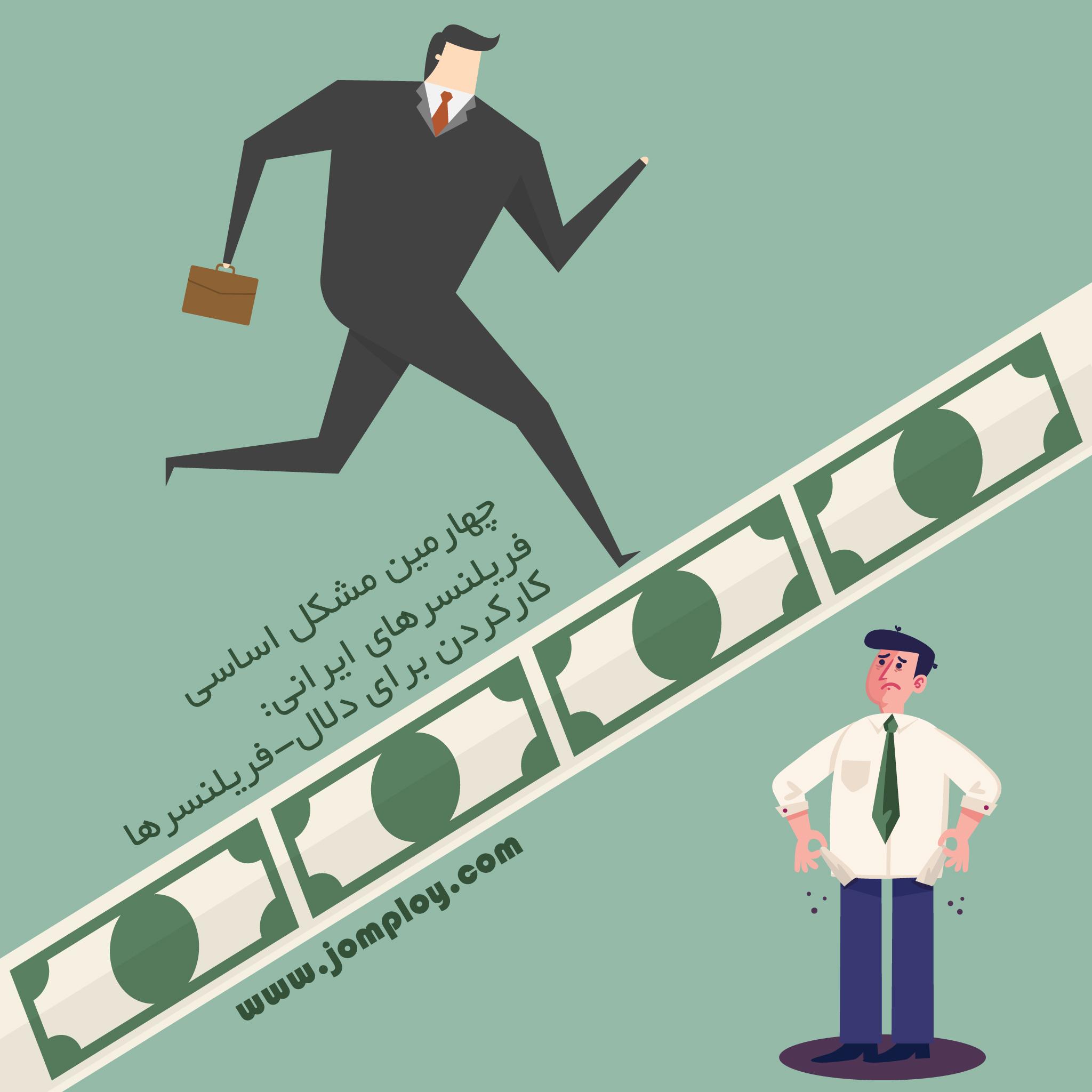 کارکردن برای دلال-فریلنسرها, چهارمین مشکل اساسی فریلنسرهای ایرانی