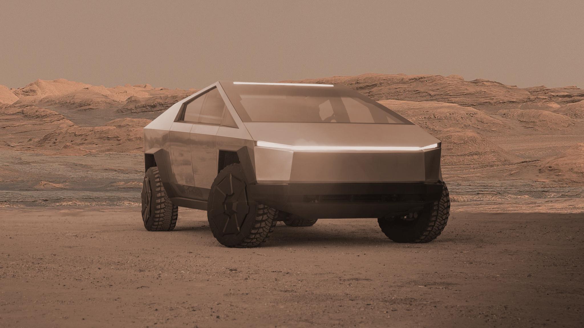 ملاقات با مریخی   سایبرتراک تسلا
