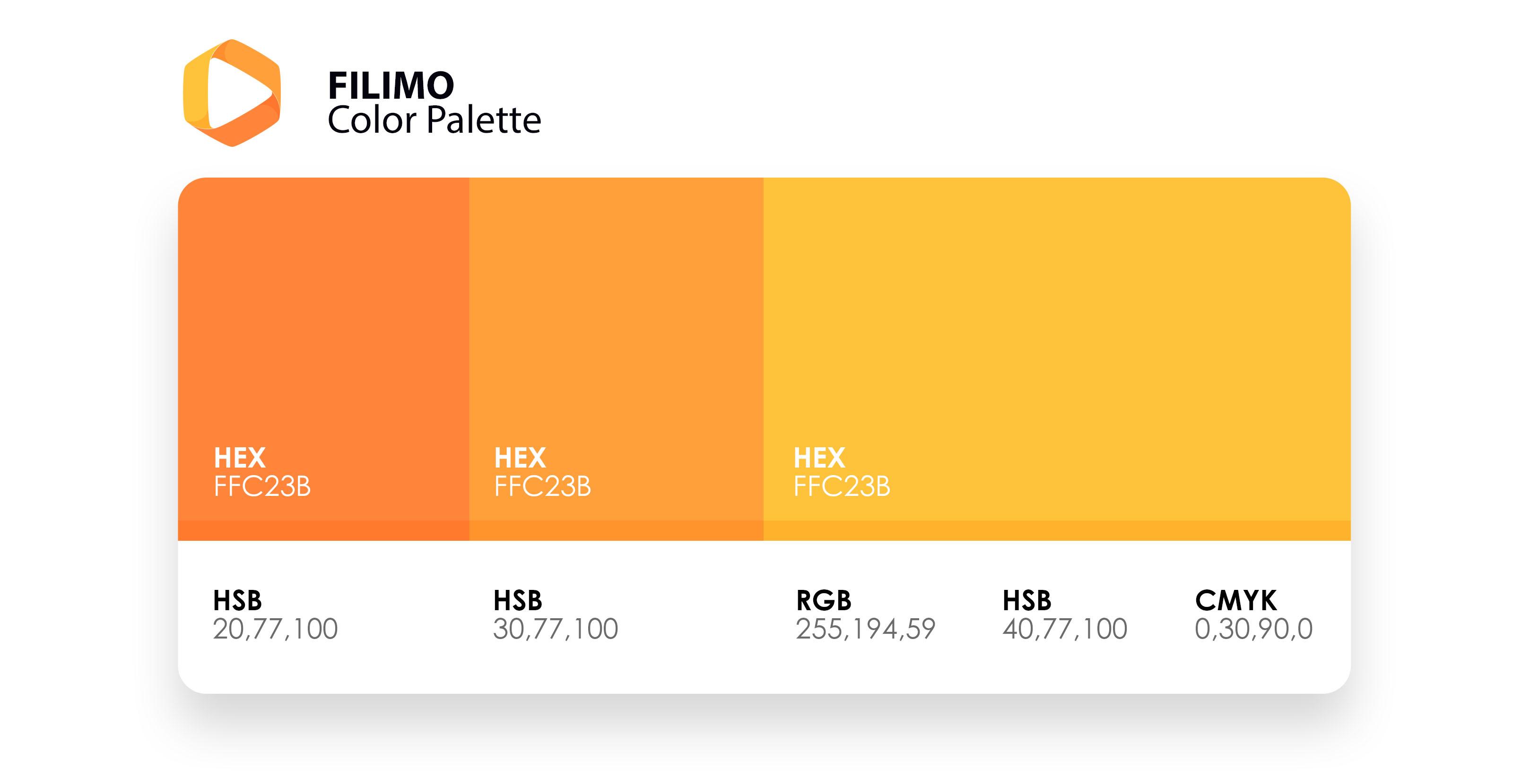 پالت رنگی فیلیمو | FILIMO Color Palette