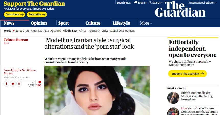 گزارش خواندنی گاردین در مورد رواج عمل های زیبایی در ایران!