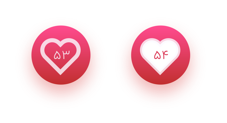 اینا قلب ها رو به جای همون قلب ثابته زدم ولی بعد پشیمون شدم و داخل طراحی نیاوردم