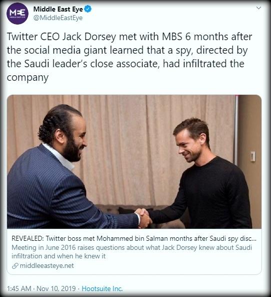 جک دورسی، محمد بن سلمان و پرونده جاسوسی از توییتر