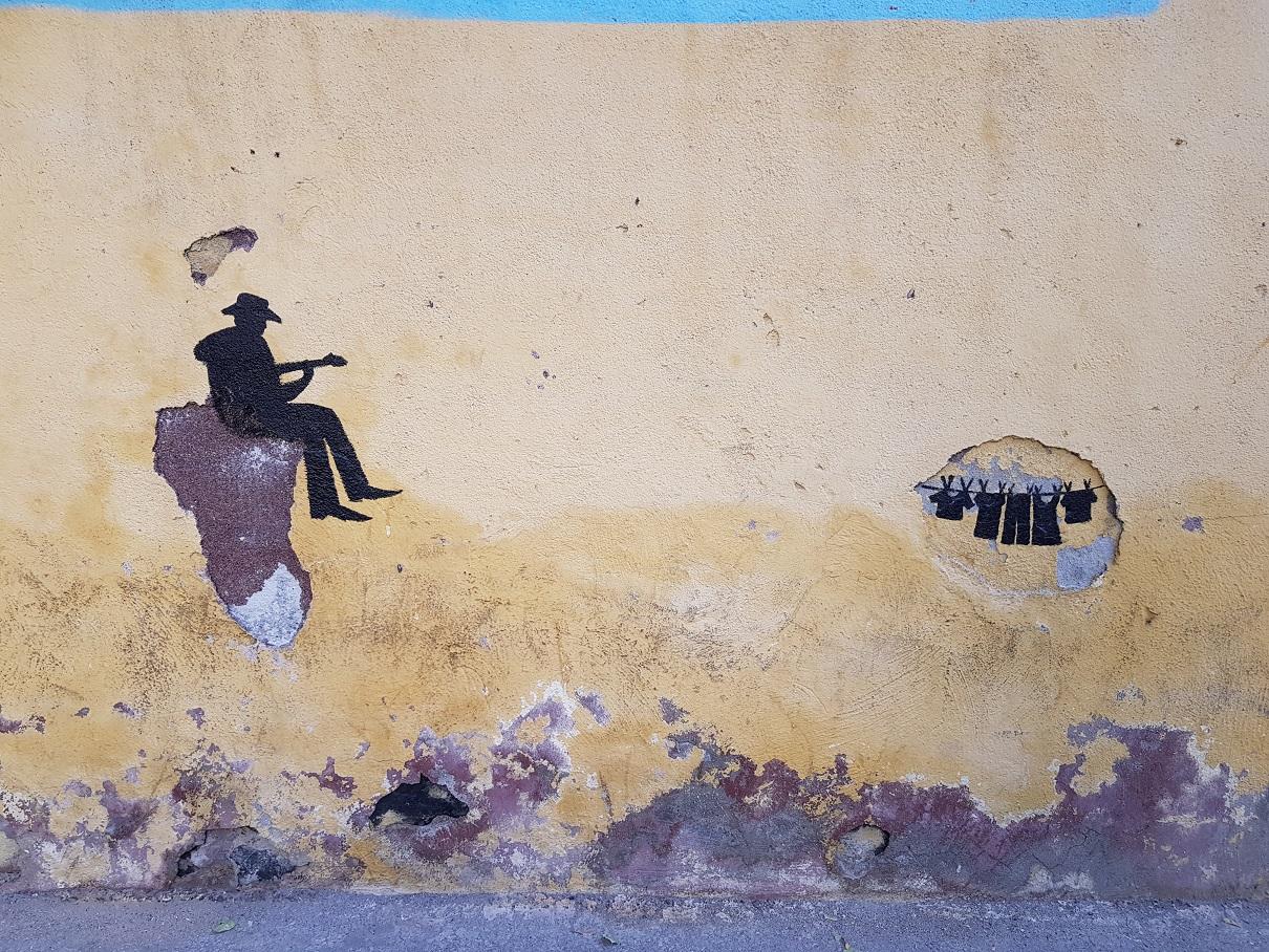 گرافیتیِ فلامینگونوازِ نیمهمتعصب