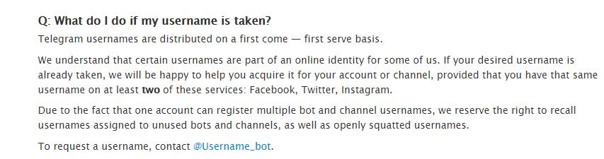 نحوه تصاحب نام کاربری کانال یا شخص در تلگرام