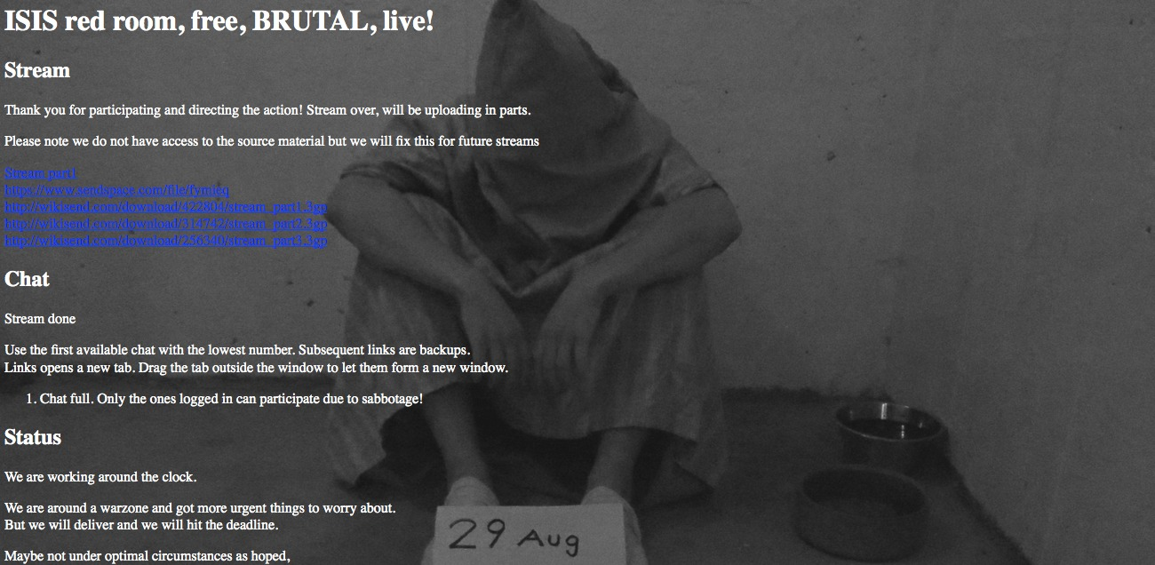 شکنجه اعضای داعش Red Room سایت