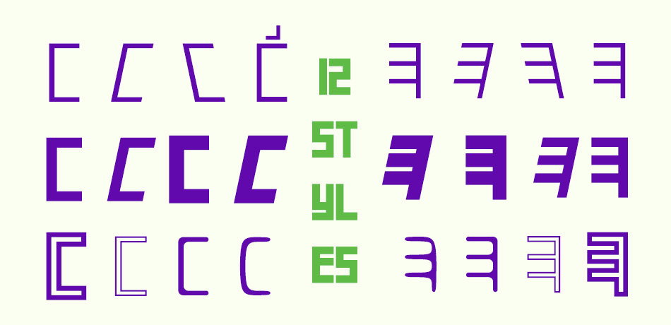 حرف «س» در ۱۲ استایل در کنار حرف
