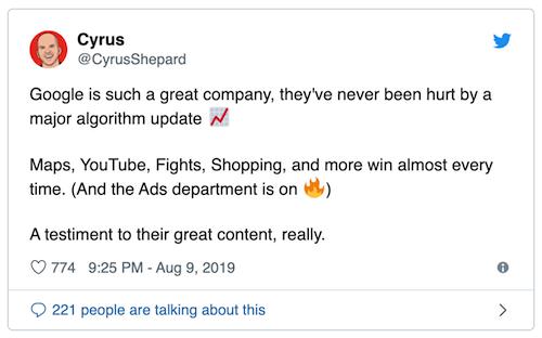 توئیتی که موفقیتهای گوگل و زیرمجموعههاش رو زیر سوال میبره