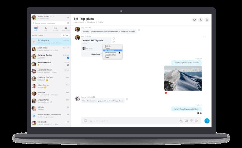 اکنون میتوانید پیامها را در اسکایپ نشانهگذاری کنید!