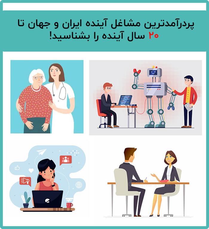 پردرآمدترین مشاغل آینده ایران و جهان تا 20 سال آینده را بشناسید