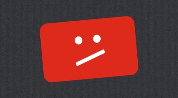 YouTube Copyright Stirke Sad Face