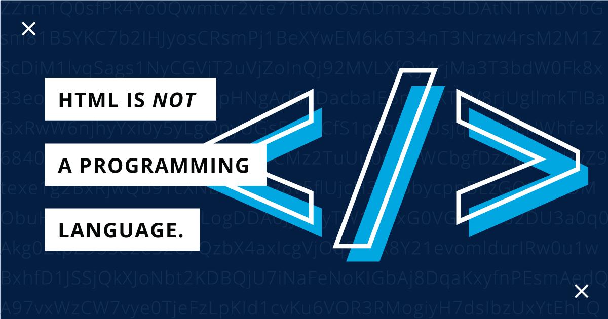 HTML زبان برنامه نویسی نیست!!!!