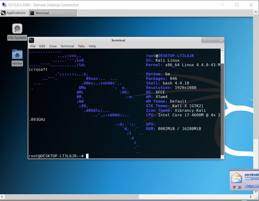Kali Linux WSL