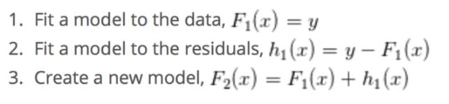 شبه کد مدل گرادیان بوستینگ
