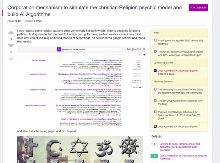 شبیه سازی اصول مذهبی در هوش مصنوعی