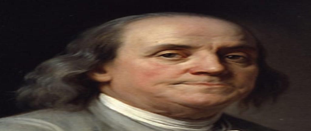Benjamin Franklin elektrikle ilgili deneyler yaptı ama aynı zamanda siyasetçiydi.