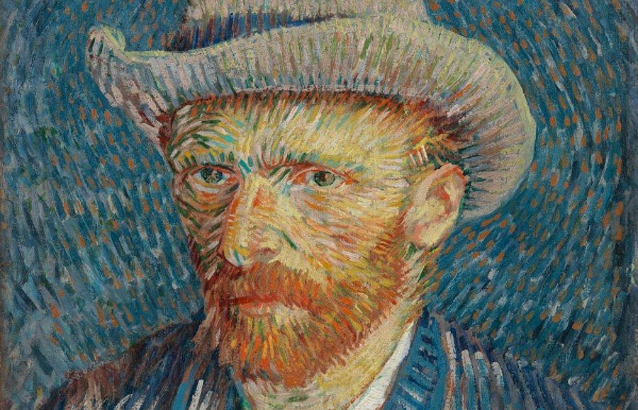 Van Gogh kendini böyle resmetmişti.