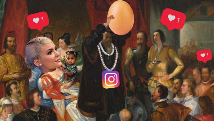 ملکه ی اینستاگرام در جنگی ۹ روزه از یک تخم مرغ شکست خورد