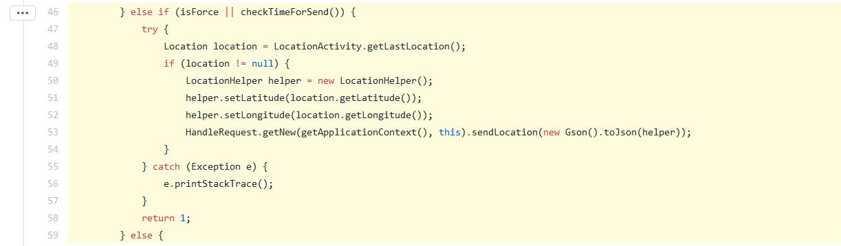 سرویس location که طول و عرض جغرافیایی مکان کاربر را میفرستد