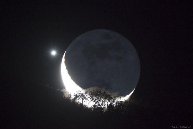 دیدار عاشقانه ماه و مشتری در آسمان شب را از دست ندهید!