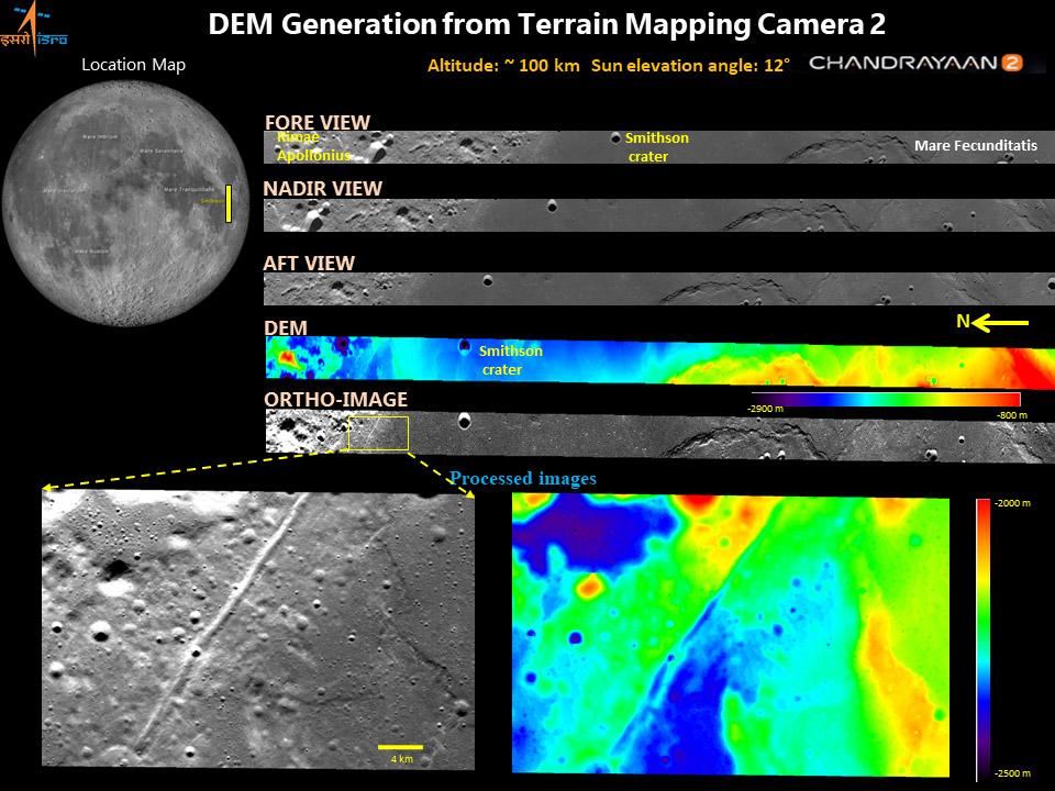 ISRO منتشر کرد: تصاویر سه بعدی از ماه!