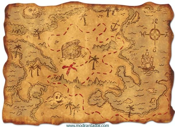 پنج قدم برای رسیدن به نقشه ی گنج