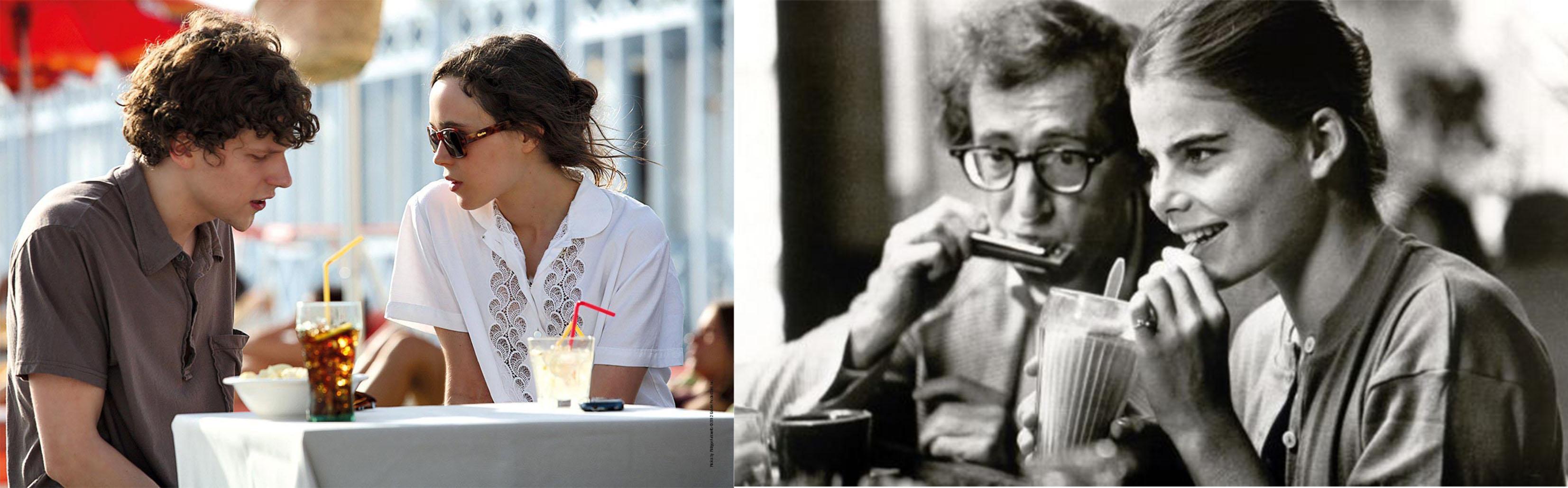 راست: Manhattan، چپ: To Rome with Love