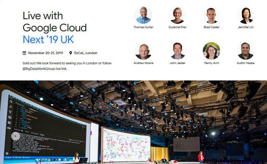 Google Cloud 2019 (Next '19 UK)
