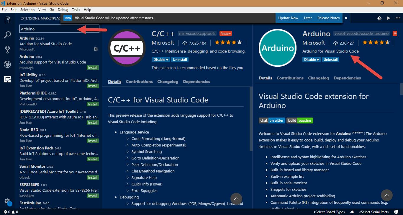 آردواینو با طعمِ ویژوال استدیو کد