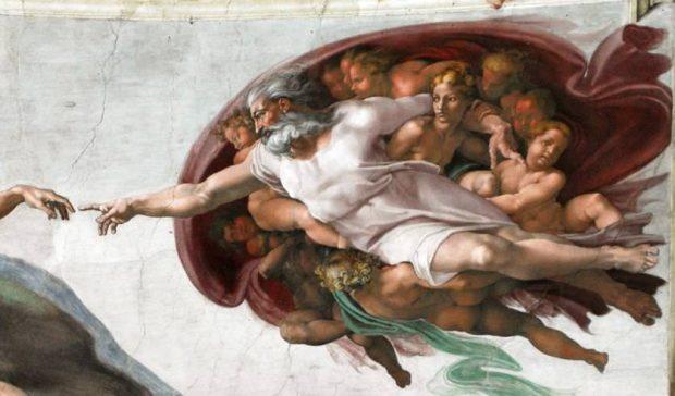 تصور میکلآنژ از مشخصات ظاهری خدا