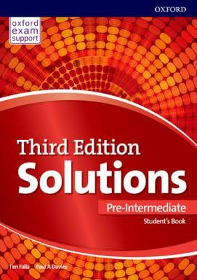 Oxford Soloution third edition Pre-intermediate Student's book
