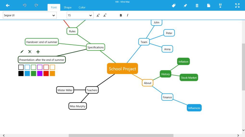 معرفی نرمافزار M8!-Mind Map (نمودار درختی و خلاصهنویسی)