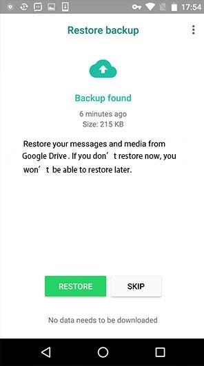 صفحهی بازنشانی اطلاعات، اگه قبلاً پشتیبانگیری کرده باشید (که احتمالاً نکردید!).