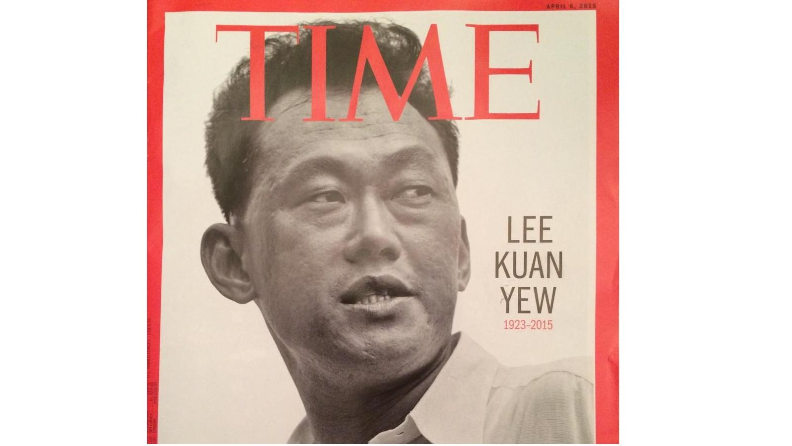 تصویر Lee Kuan Yew بر جلد مجلهی TIME
