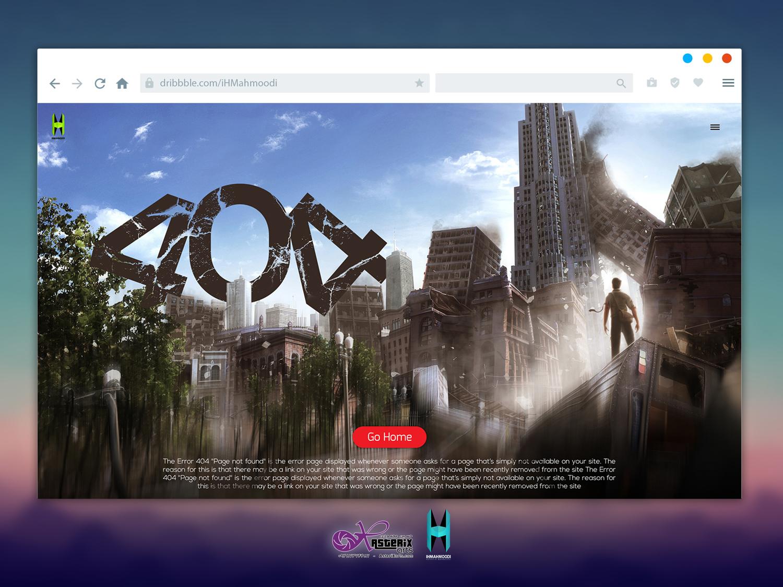 نمونه کار: طراحی رابط کاربری صفحه Error 404