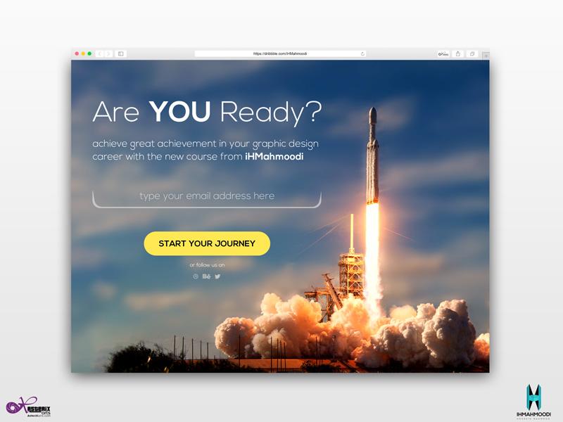 نمونه کار: طراحی رابط کاربری Pop-up web sign-up