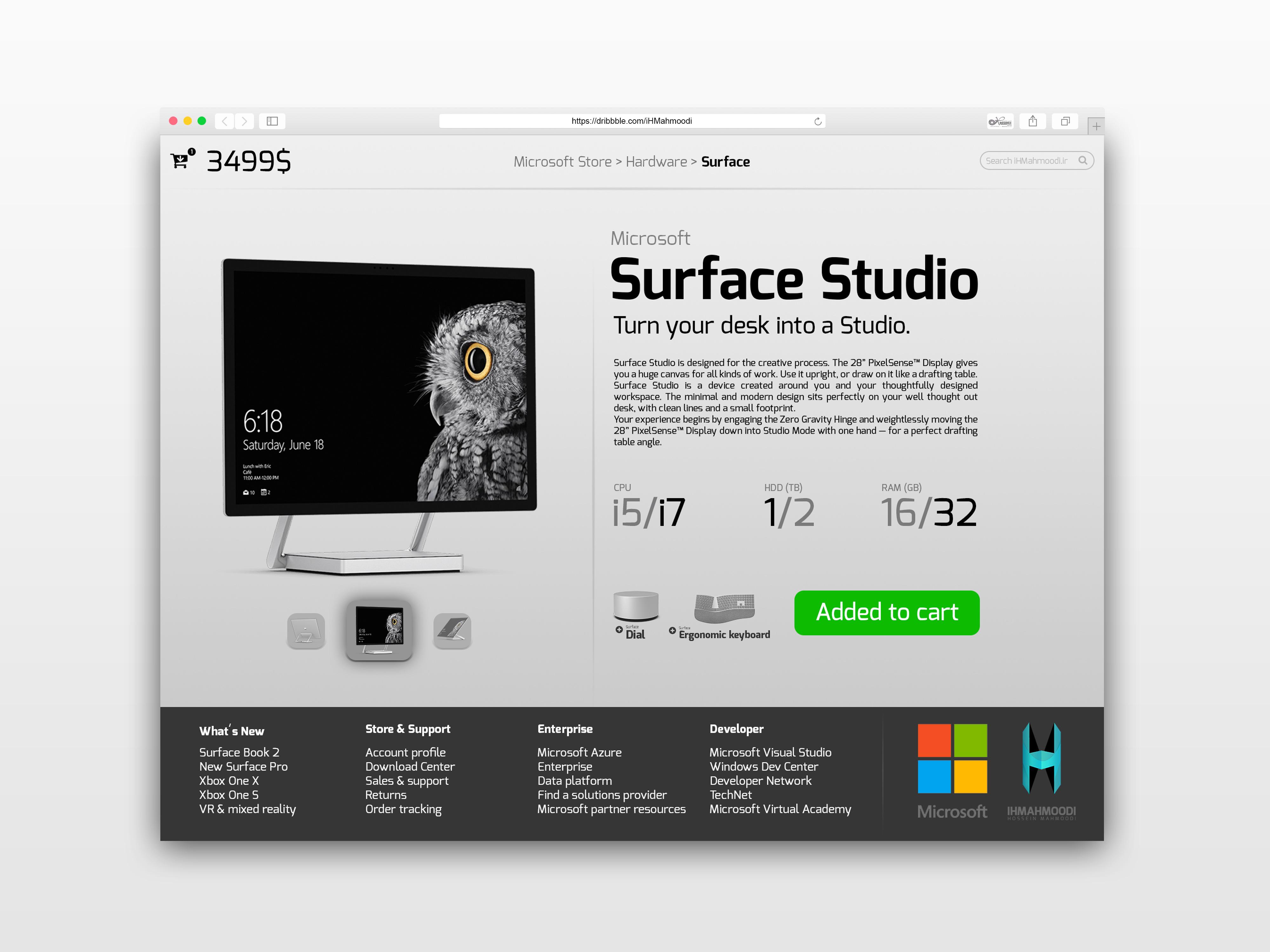 نمونه کار: طراحی رابط کاربری E-Commerce Shop