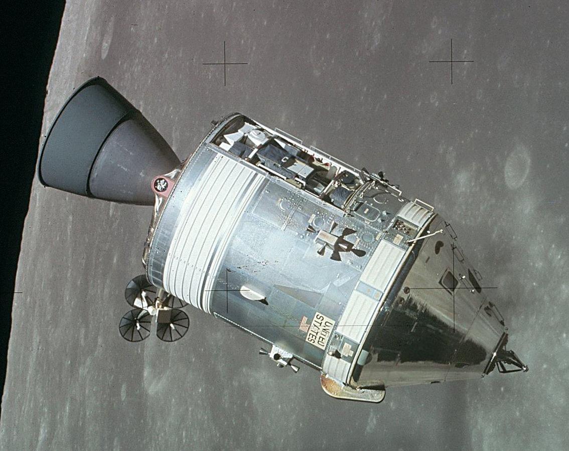 ماژولهای سرویس و فرماندهی آپولو 15 - مدار ماه