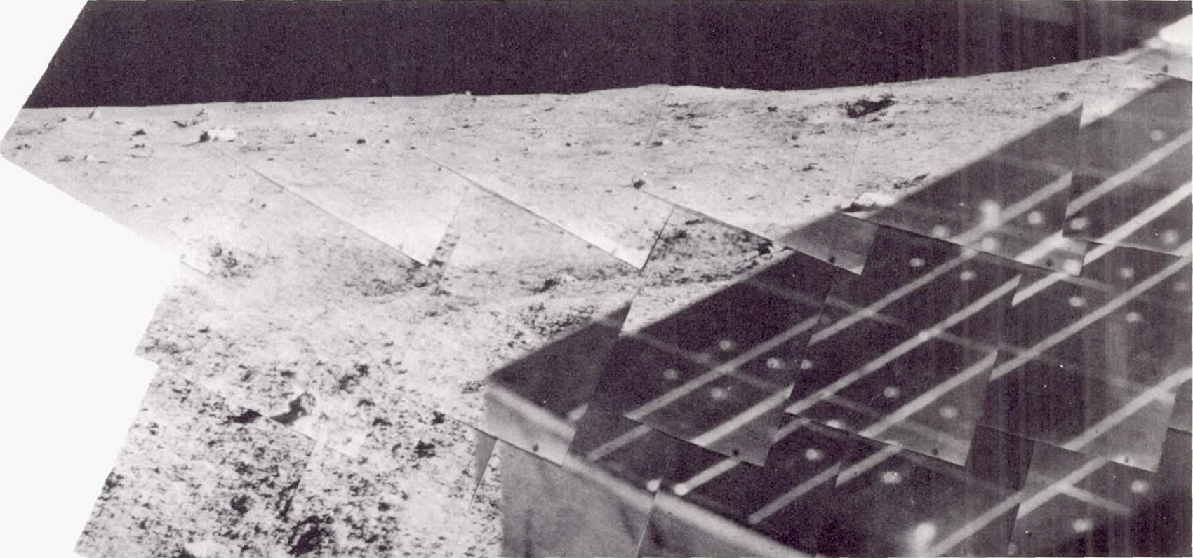 تصویری پانوراما از کاوشگر Surveyor 5