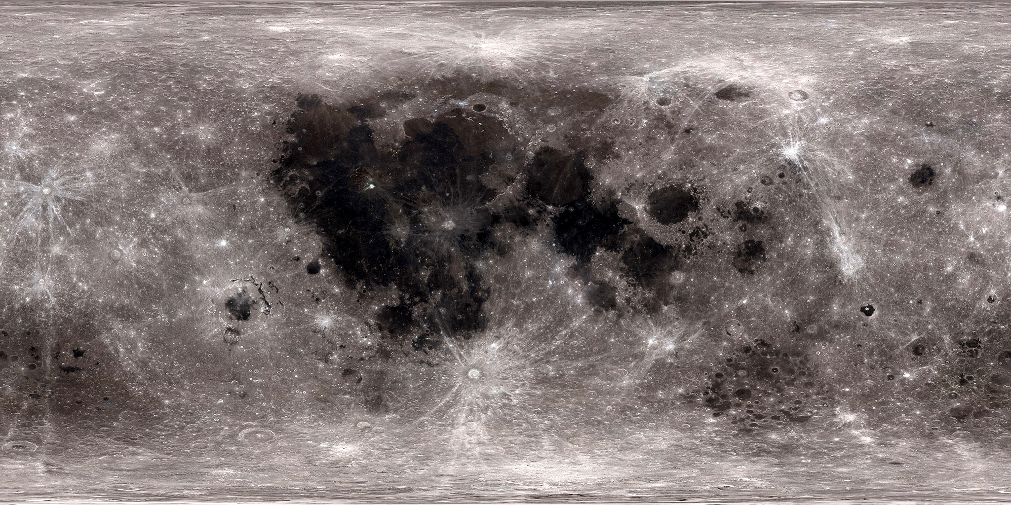 نقشهی کامل از سطح ماه
