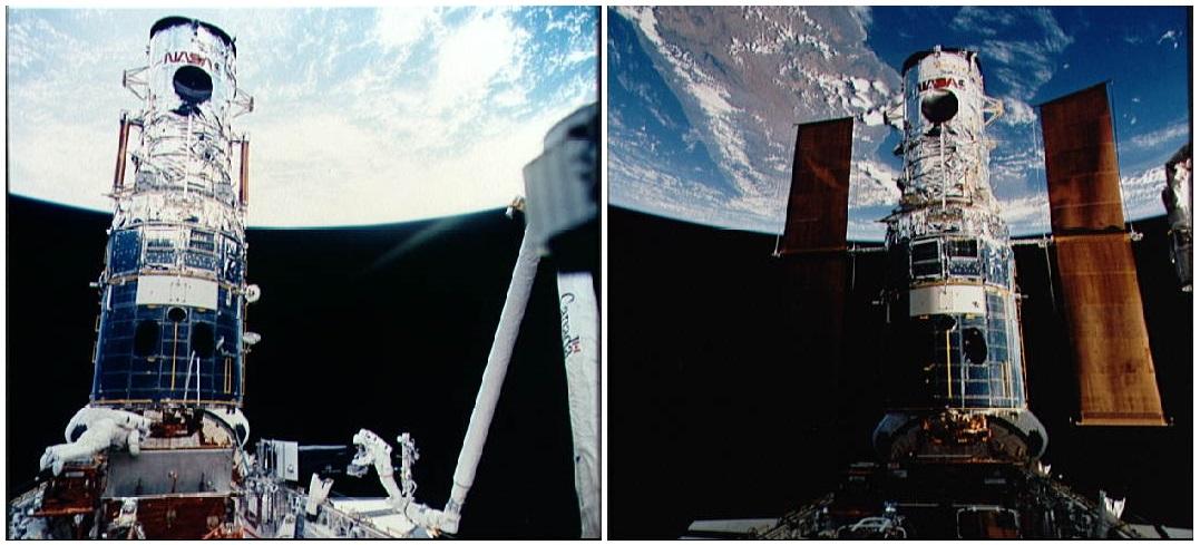 تعمیر تلسکوپ فضایی هابل توسّط خدمهی شاتل آتلانتیس