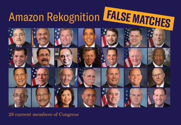 نمایندگان کنگره ای که توسط آمازون متهم تشخیص داده شدند.