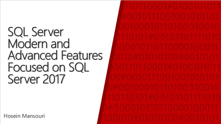 ویدئوی سمینار SQL Server Modern and Advanced Features