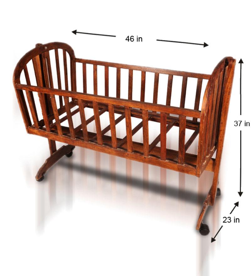 بهترین اندازه برای گهواره چوبی نوزاد