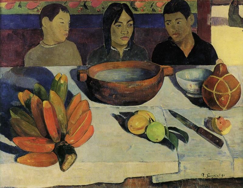 نقاشی غذا-موزها (The meal-bananas) که تاثیر شگرفی بر هنرمندان هنر معاصر بخصوص اندی وارهول گذاشت.