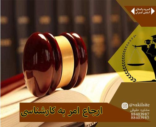 وکیل پایه یک شرق در بیان قرار ارجاع به کارشناسی