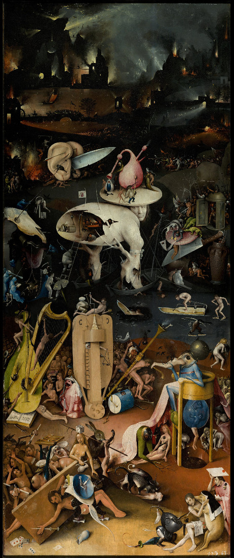 Detail Of  Hell, The Garden Of Earthly Delights, 1490-1500 by Hieronymus Bosch
