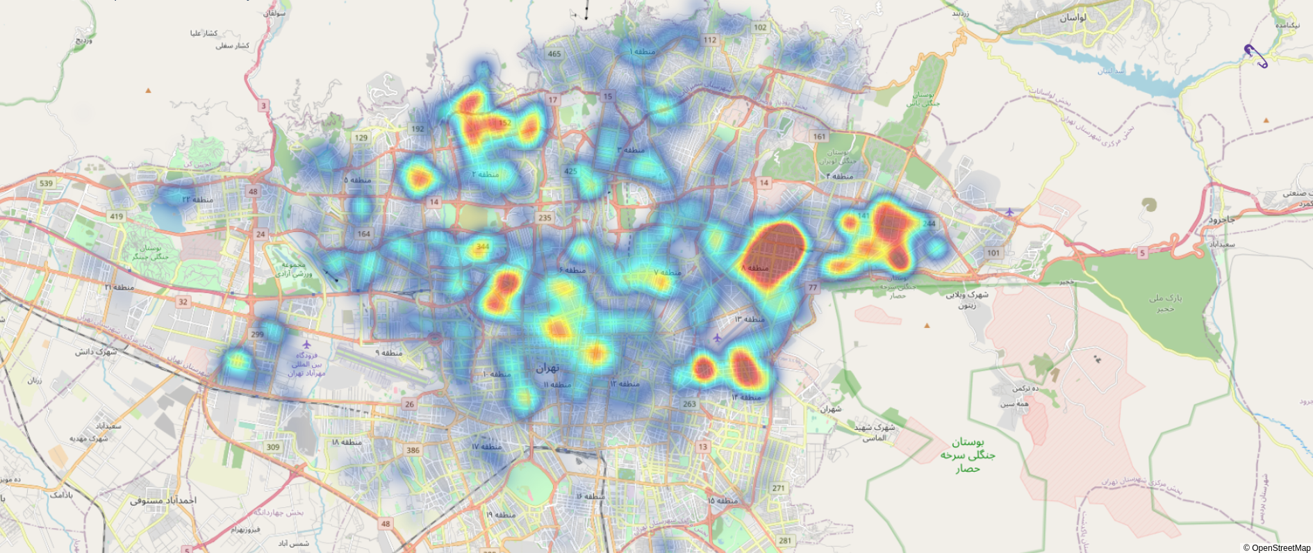 توزیع درخواست آنلاین برای خدمات خانه در تهران